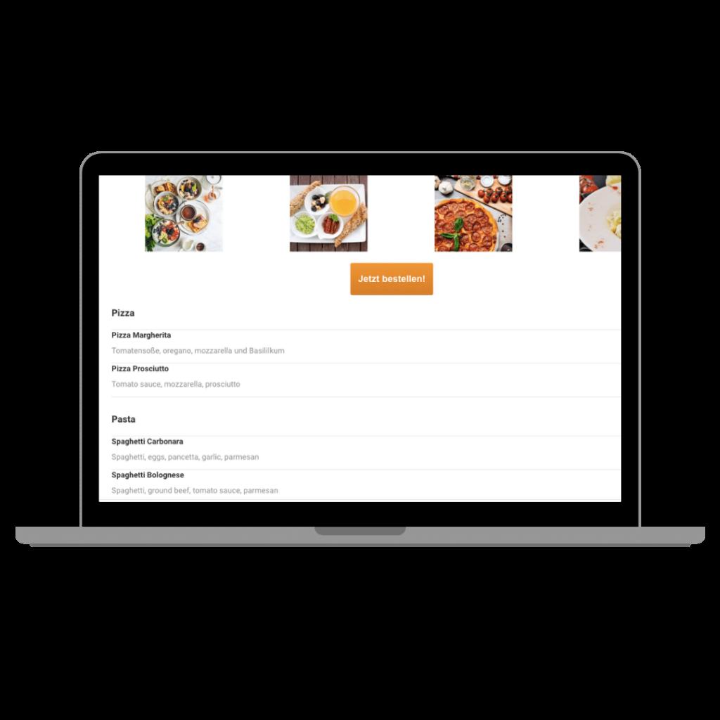 online speisekarte